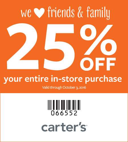 Friends & Family 25% Off Your Entire In-Store Purchase