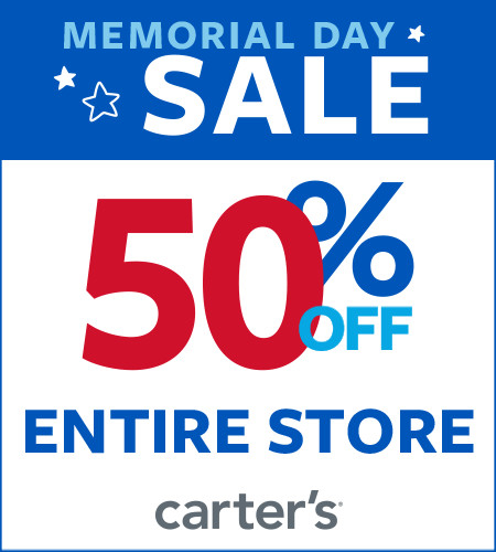 Memorial Day Sale 50% Off Entire Store