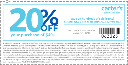 Carters coupon that works on clearance