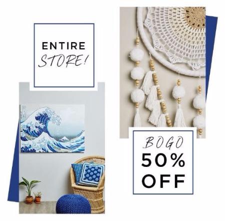 Entire Store BOGO 50% Off