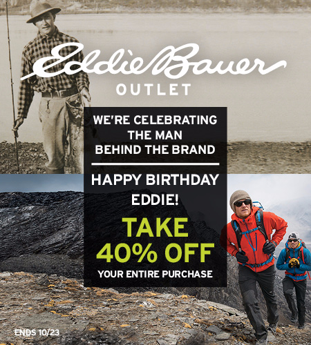 Happy Birthday Eddie! Take 40% Off Your Entire Purchase