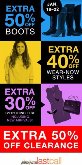 50% Off Fall & Clearance + 30% - 60% Off Everything Else