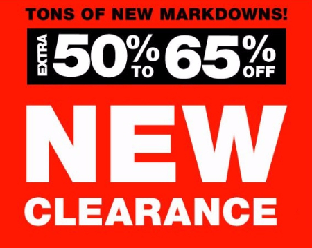 Extra 50% to 65% Off New Clearance