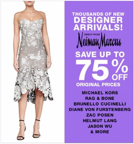 Up to 75% Off Thousands of New Designer Arrivals