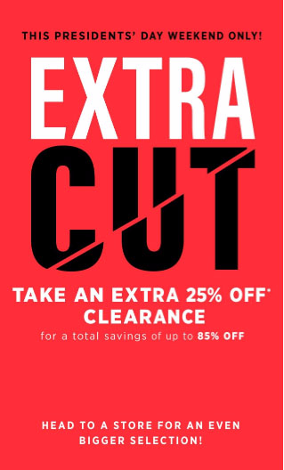 Extra 25% Off Clearance