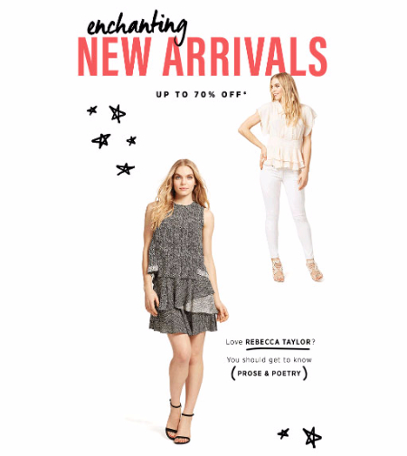 Up to 70% Off New Arrivals
