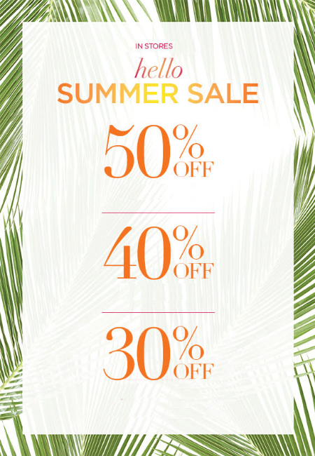 Up to 50% Off Summer Sale