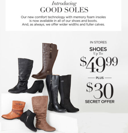 Shoes Up to $49.99