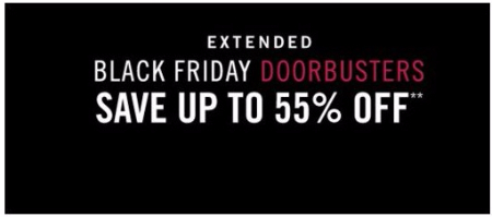 Up to 55% Off Black Friday Doorbusters