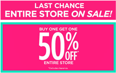 Last Chance - Entire Store On Sale at DEB