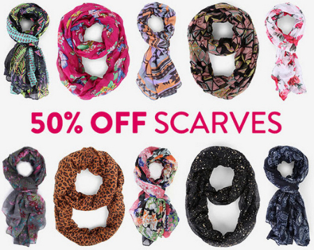 50% Off Scarves at DEB