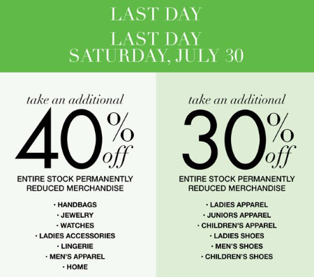 Additional 30% & 40% Off Clearance