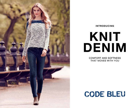 Discover This Knit Denim