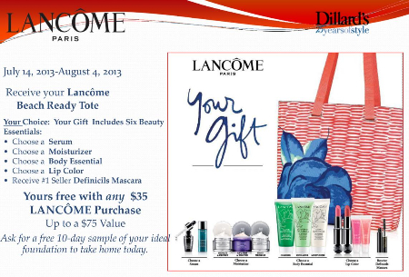 Lancome Gift with Purchase