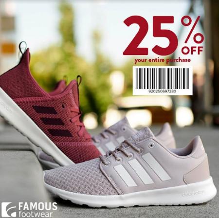 8ad771905bfd Fox Valley Mall     25% Off Friends   Family Offer     Famous Footwear