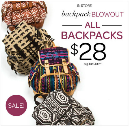 $28 Backpack Blowout at Icing