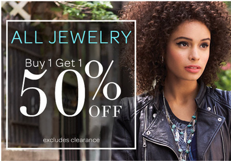 All Jewelry BOGO 50% Off at Icing