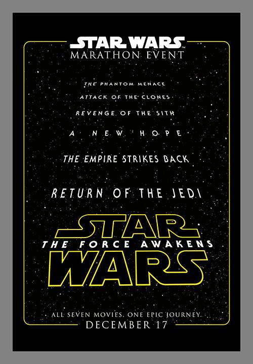 Star Wars Marathon Event!