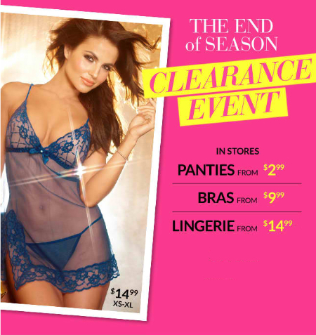 Clearance Event at Frederick's of Hollywood
