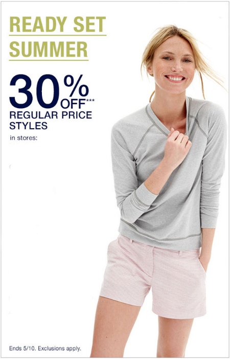Shop in store today and take 30 off on regular price styles