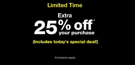 Extra 25% Off Your Purchase