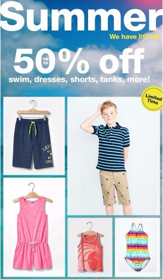 Up to 50% Off Swim, Dresses, Shorts, Tanks & More