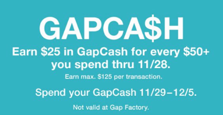 Earn $25 in GapCash