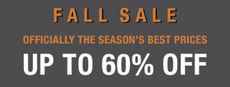Fall Sale up to 60% Off