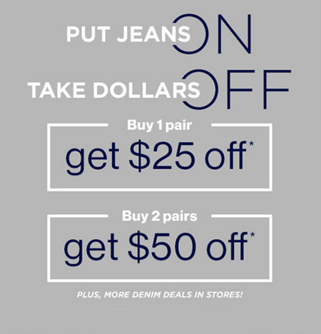 Put Jeans on, Take Dollars Off Event at Gap