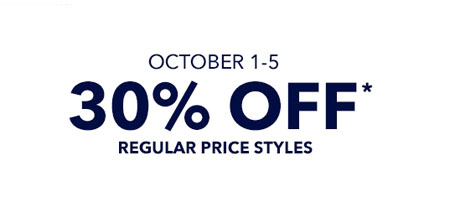 30% Off Regular Price Styles at Gap