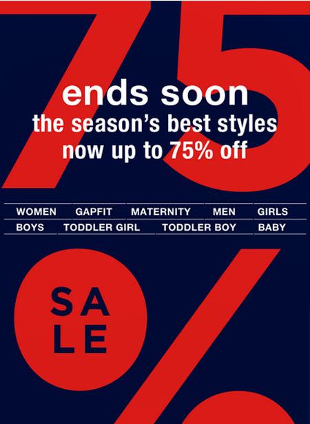 Fall Sale at Gap