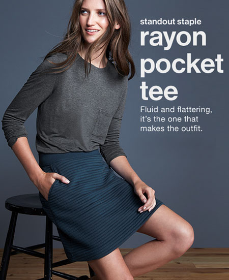Shop The Rayon Pocket Tee