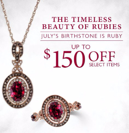 $150 Off Select July Birthstone Jewelry