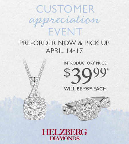 Reserve Your Specially Priced Pendant or Ring* Today