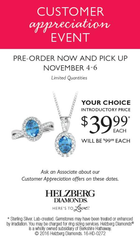 Customer Appreciation Pre-Order Choice of $39.99 Pendant or Ring*
