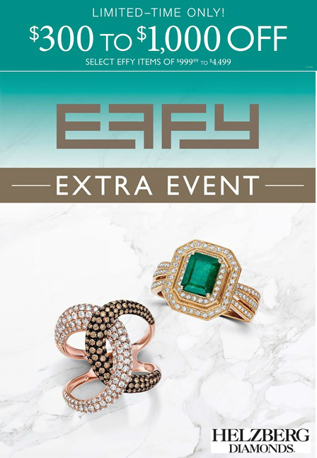 Effy Extra Event!  $300 to $1,000 Off