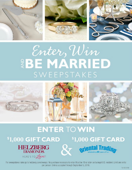 Helzberg Diamonds Enter Win and Be Married Sweepstakes