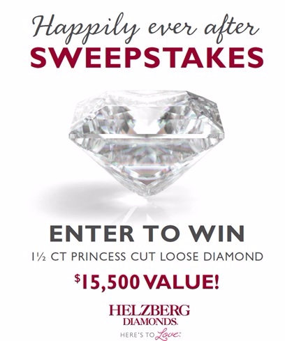 Enter To Win a $15,500 1 ½ CT Loose Diamond In Happily Ever After Sweepstakes