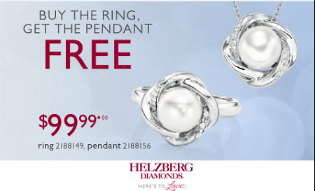 Buy the Ring for $99.99 Get the Pendant FREE*