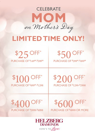Take $25 to $600 Off on Purchases for Mom