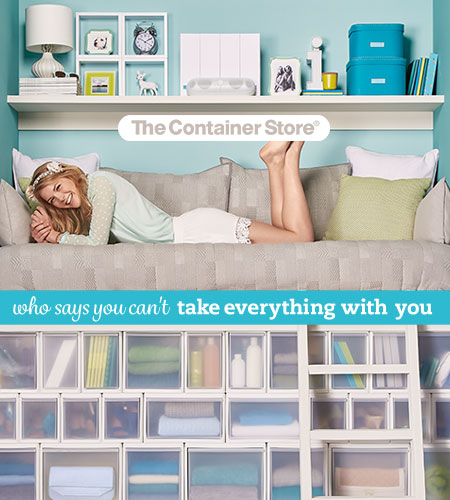 The Container Store Major in Dorm Envy at The Container Store