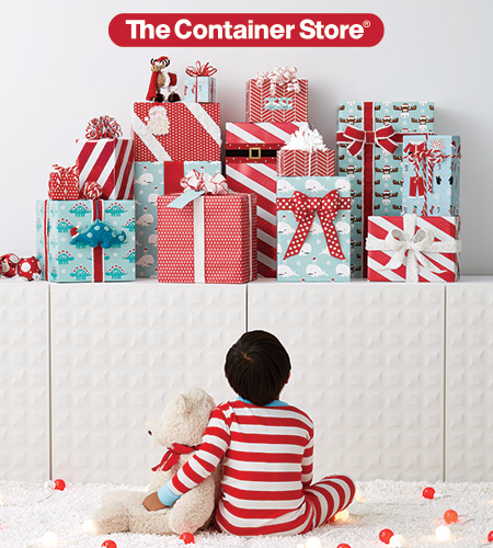 Gift Wrap Wonderland at The Container Store