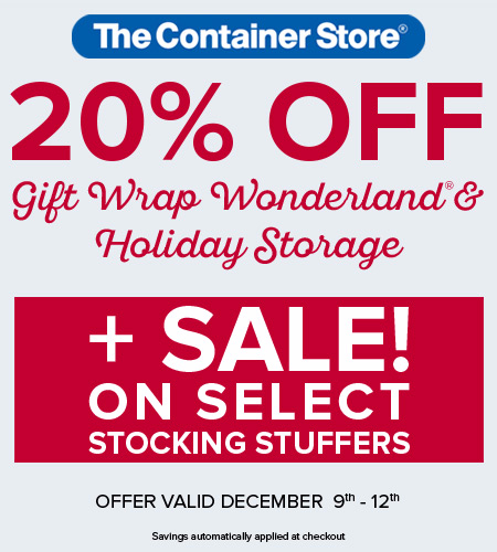 20% Off Gift Wrap Wonderland at The Container Store