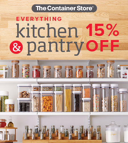 Kitchen and Pantry Sale! at The Container Store