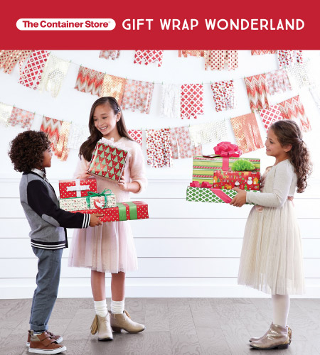 The Container Store's Gift Wrap Wonderland at The Container Store