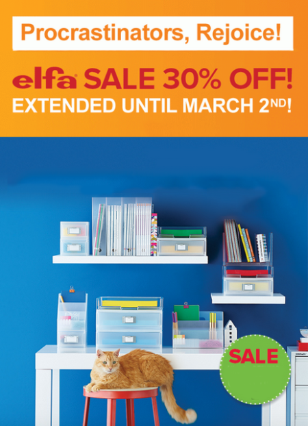 30% Off Elfa at The Container Store