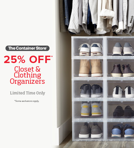 The Container Store | The Container Store Closet Essentials Sale