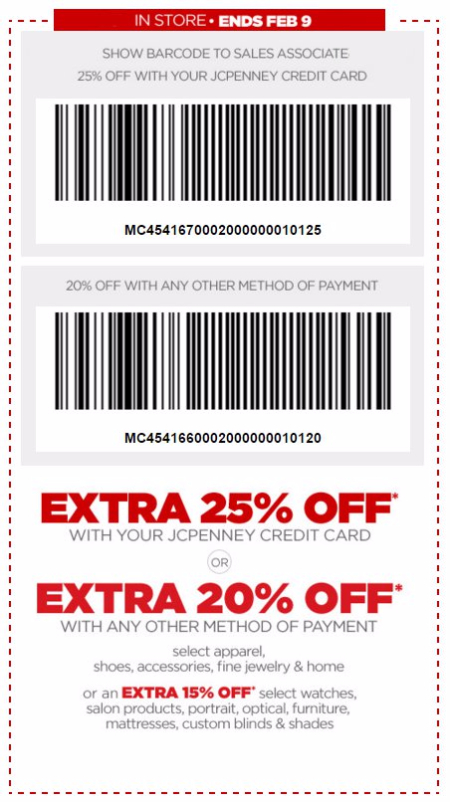 Extra 25% Off With Your JCPenney Credit Card