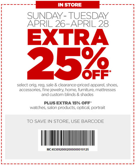 Extra 25% Off During Friends & Family at JCPenney
