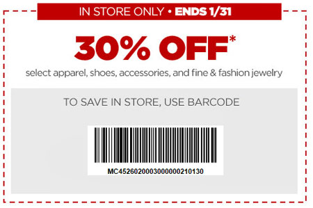 Extra 30% Off Apparel at JCPenney